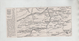 Carte Gorges De Moutier Courrendlin Tramelan Tavannes Reconvilier Bévilard Crémine Circa 1910 - Sin Clasificación