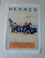Ancienne Publicité Presse De 1926 - 40 X 29 Cm - HERMES Sellier - Double Face - Publicidad