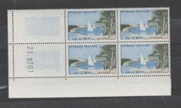 """FRANCE / 1961 / Y&T N° 1312 ** : """"Touristique"""" (Arcachon - Gironde) X 4 - Coin Daté 1961 08 23 - 1960-1969"""