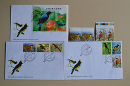 Viet Nam 2000 3 FDC + 2 Paisr MNH Oiseau Bird Oiseaux Birds - Pájaros Cantores (Passeri)