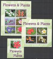 G513 2016 ST. VINCENT FLORA FLOWERS & PLANTS #7671-80 MICHEL 38 EURO 1BL+2KB MNH - Otros