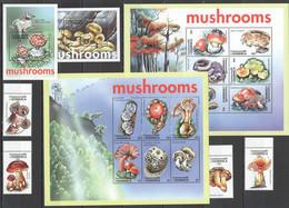 G1516 DOMINICA FLORA NATURE MUSHROOMS !!! 2BL+2KB+1SET MNH - Hongos