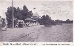 AK - Wien XXII. - Lido Von Wien - GÄNSEHÄUFEL - Strandkaffe Im Herrenbad - 1911 - Otros