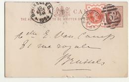 Entier Brighton -> Brussels  Belgium 1894 - Storia Postale
