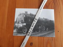 SNCF : Photo Originale Anonyme 10x14,5 : Locomotive à Vapeur Pacific ETAT 231 C Décoration Présidentielle Ou Royale - Trains