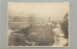 TRIER/TREVES (Allemagne) - Bords De La Moselle, Bateaux, Péniches (photo Années 30, Format 11,1 Cm X 8,2 Cm) - Luoghi