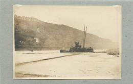 TRIER/TREVES (Allemagne) - Moselle En Hiver,péniche (photo Année 1924, Format 11,3 Cm X 7,8 Cm) - Luoghi
