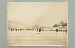 TRIER/TREVES (Allemagne) - Moselle En Hiver, Patinage (photo Année 1924, Format 11,3 Cm X 8,2 Cm) - Luoghi