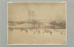 TRIER/TREVES (Allemagne) - Moselle En Hiver, Patinage (photo Année 1924, Format 11,1 Cm X 8,2 Cm) - Luoghi