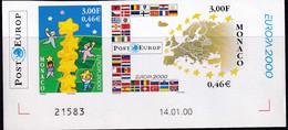 Monaco Non Dentelés N°2248 /2249 Europa 2000 2 Valeurs Qualité:** - Otros