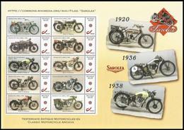 DUOSTAMP** / MYSTAMP** - Motos / Motorfietsen - Sorolea / Magellaan - Feuille Entière / Hele Blad / Ganzes Blatt / Sheet - Persoonlijke Postzegels