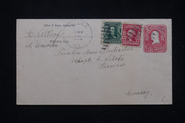 ETATS UNIS - Entier Postal + Compléments De Welga Pour L 'Allemagne En 1906 - L 81178 - 1901-20