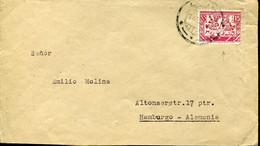 60922 Perù, Circuled Cover  From Lima To Hamburg, With Stamp  Chimù Cultur - Peru