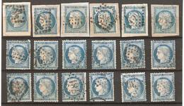 18 Timbres De 1871/75 ( France / Cérès ) - 1871-1875 Ceres