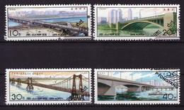 Corée Du Nord 1990 - Oblitéré - Ponts - Michel Nr. 3085-3088 Série Complète (prk504) - Corée Du Nord