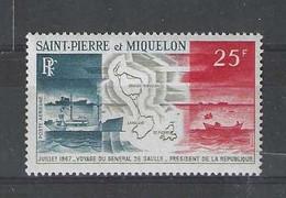 St Pierre Et Micquelon N° 38 P.A. Neuf Sans Cha Valeur27 € - Zonder Classificatie