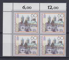 Bund 1645 Eckrand Links Oben 4er Block 1200 Jahre Münster 60 Pf Postfrisch - Ohne Zuordnung