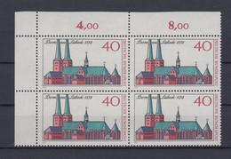 Bund 779 Eckrand Links Oben 4er Block 800 Jahre Dom Zu Lübeck 40 Pf Postfrisch - Ohne Zuordnung