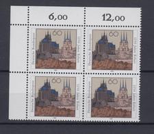 Bund 1611 4er Block Eckrand Links Oben 1250 Stadt Erfurt 60 Pf Postfrisch - Ohne Zuordnung