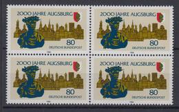 Bund 1234 4er Bock 2000 Jahre Augsburg 80 Pf Postfrisch - Ohne Zuordnung
