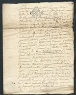 Cachet Généralité De Moulins 2 Sols Sur Document Complet Daté Du  2 Decembre 1758  Bb 16301 - Seals Of Generality