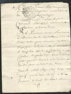 """Cachet Généralité De Moulins Pour Notaires   1 Sol Et  4 Deniers Sur Documentcomplet Daté Du 4 """"may"""" 1736  Bb 16305 - Seals Of Generality"""