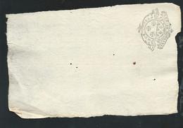 Cachet Généralité De Moulins   8  Deniers Sur Reçu Complet  Daté  Le Huit Mars 1736   Bb 16307 - Seals Of Generality