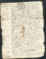 2 Cachet Généralité De Moulins  1 Sol 4  Deniers Sur  Actes (8 Pages ) Departage Succession Daté 3 Sept 1745   Bb 16308 - Seals Of Generality