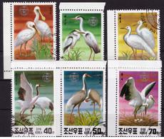 Corée Du Nord 1991 - Oblitéré - Oiseaux - Michel Nr. 3174-3179 Série Complète (prk518) - Korea (Nord-)