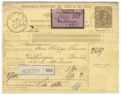 1890 Pacchi Postali Lire 1,75 Da VICENZA A Dillingen In Baviera Via München - Stamped Stationery