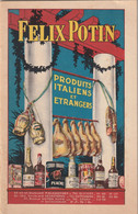 Felix Potin Catalogue Produits Italiens Et Etrangers 15 X 23.2 Cm Un Dessin De Capiello - Advertising