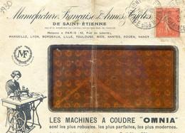 Lettre De La Manufacture Francaise D'armes Et Cycles De Saint Etienne 1930 - Pub Machine à Coudre Omnia - Fact Accordeon - 1921-1960: Modern Tijdperk