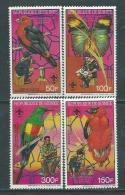 Guinée  N° 865 / 68 XX  Faune Et Scoutisme. Oiseaux Et Papillons Les 4 Valeurs Sans Charnière TB - Guinée (1958-...)