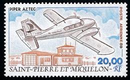 ST-PIERRE ET MIQUELON 1989 - Yv. PA 68 **   Faciale= 3,05 EUR - Avion Piper Aztec Et Aéroport  ..Réf.SPM12605 - Neufs