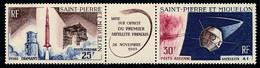 ST-PIERRE ET MIQUELON 1966 - Yv. PA 34A Tryptique **   Cote= 18,00 EUR - 1er Satellite Français  ..Réf.SPM12588 - Neufs