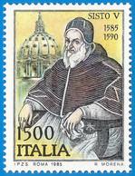 Italia. Italy. 1985. Mi 1919. Pope Sixtus V (1520 - 1590). Dome Of St. Peter's Basilica. Rome - 1981-90: Neufs