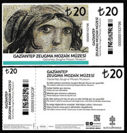 Turkey, Türkei - Gaziantep Zeugma Mosaic Museum * Entrance Ticket * Type-b - Toegangskaarten