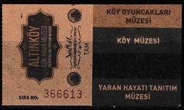 Turkey, Türkei - Village Toys Museum * Entrance Ticket * - Toegangskaarten