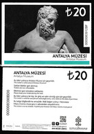 Turkey, Türkei - Antalya Archeology Museum * Entrance Ticket * - Toegangskaarten