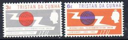 Tristan Da Cunha 1965 ITU Centenary Set Of 2, MNH, SG 85/6 - Tristan Da Cunha