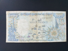 CONGO 1000 FRANCS 1991 - Republik Kongo (Kongo-Brazzaville)