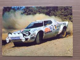 Cartolina In Bianco Lancia Stratos 1977 - Rally Racing