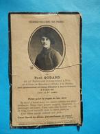 FAIRE PART DECES POILU  MILITAIRE  WWI   42  BATAILLON CHASSEURS A PIEDS  1918 GENVRY SENICOURT - Documenti