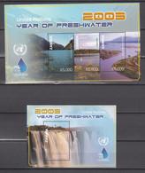 Zambia 2003,4V In KB+Block,year Of Freshwater,MNH/Postfris(L3552) - Polucion