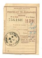 Récépissé Postes Et Télégraphes - Cachet Batna - Constantine 26-4-1935 - Handstempels