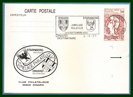 Entier Cp Repiqué DINARD 1983 Flamme Jumelage STARNBERG (défaut Fléché) - AK Mit Aufdruck (vor 1995)