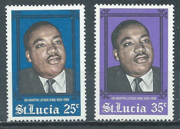 Sainte-Lucie YT N°233/234 Pasteur Martin Luther King Neuf/charnière * - St.Lucia (...-1978)