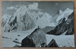 Pakistan Gasherbrum Gruppe Himalaya Karakorum Gasherbrum II 1956 Zelt Flagge Schweiz - Pakistan