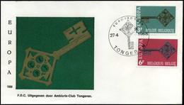België - FDC -1452/53 - Europa CEPT 1968 -- Stempel  : Tongeren - 1961-70