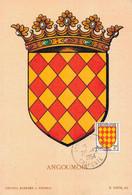 G0812 - Emblème ANGOUMOIS - 24 DECEMBRE 1954 - N° 075001 - 1950-59